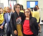 Rosalía con la Ministra de Sanidad, Servicios Sociales e Igualdad, Dolors Montserrat Montserrat