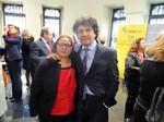 Rosalía con el Secretario de Estado de Servicios Sociales e Igualdad, Mario Garcés Sanagustín.