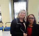 Rosalía con la Directora General del Instituto de la Mujer y para la Igualdad de Oportunidades, Lucía del Carmen Cerón Hernández